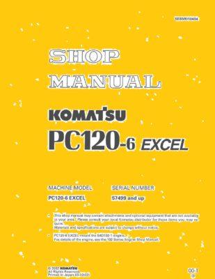 Komatsu PC120-6 EXCEL Excavator Workshop Repair Service Manual PDF download
