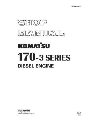 Komatsu ENGINE 170 -3 SERIES Workshop Repair Service Manual PDF download