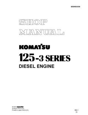Komatsu ENGINE 125-3 SERIES Workshop Repair Service Manual PDF download