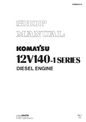 Komatsu ENGINE 12V140-1 SERIES Workshop Repair Service Manual PDF download