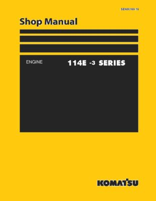 Komatsu ENGINE 114E -3 SERIES Workshop Repair Service Manual PDF download