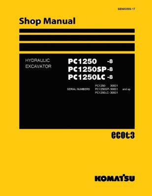 Komatsu PC1250-8 Diesel Excavator Workshop Repair Service Manual PDF download