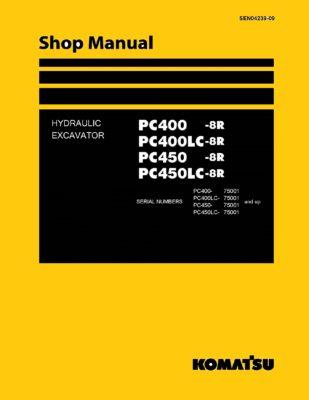 Komatsu PC400-8R/PC450-8R Diesel Excavator Workshop Repair Service Manual PDF download