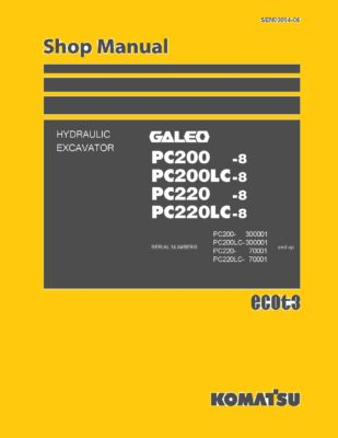 Komatsu PC200- 8/ PC200LC-8/ PC220-8/ PC220LC-8 Excavator Workshop Repair Service Manual PDF download