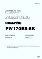 Komatsu PW170ES-6K Hydraulic Wheel Excavator Workshop Repair Service Manual PDF Download