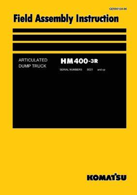 Komatsu ARTICULATED DUMP TRUCK HM400-3R Field Assembly Instruction PDF Download