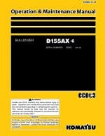 Komatsu Crawler Dozer D155AX-6 Operation & Maintenance Manual PDF Download