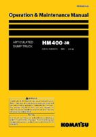 Komatsu ARTICULATED DUMP TRUCK HM400-3R Operation & Maintenance Manual PDF Download