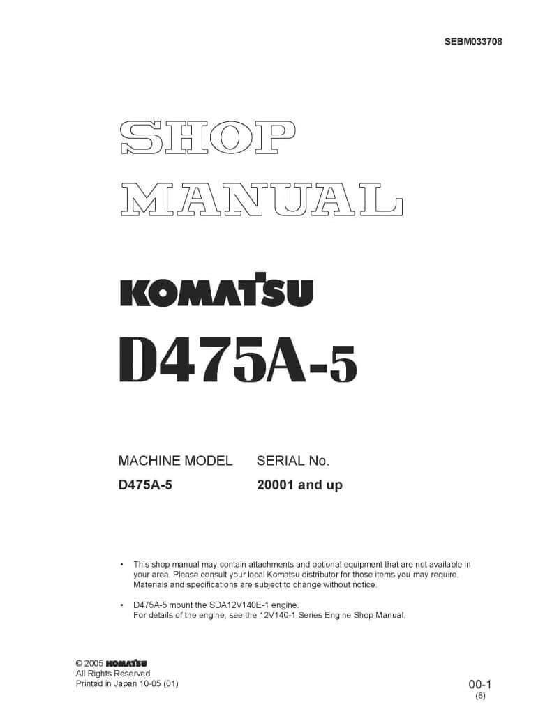 Komatsu Crawler Dozer D475a