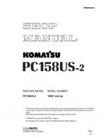 Komatsu PC158US-2 Hydraulic Excavator Workshop Repair Service Manual PDF Download