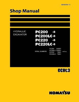Komatsu PC200 -8 PC200LC-8 PC220 -8 PC220LC-8 Hydraulic Excavator Workshop Repair Service Manual PDF Download