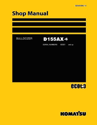 Komatsu Crawler Dozer D155AX-6 Workshop Repair Service Manual PDF Download