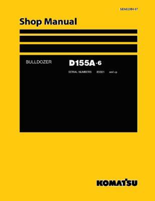 Komatsu Crawler Dozer D155A-6 Workshop Repair Service Manual PDF Download