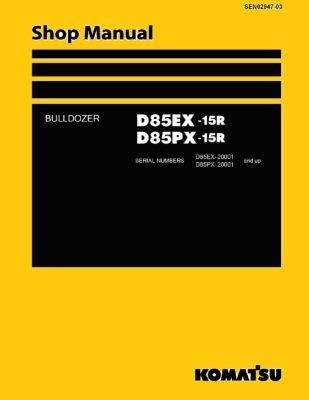 Komatsu Crawler Dozer D85EX-15R/D85PX-15R Workshop Repair Service Manual PDF Download