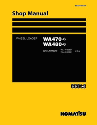 Komatsu WHEEL LOADER WA470-6/ WA480-6 Workshop Repair Service Manual PDF Download