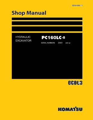 Komatsu PC160LC-8 Hydraulic Excavator Workshop Repair Service Manual PDF Download