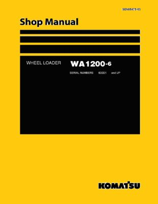 Komatsu WHEEL LOADER WA1200-6 Workshop Repair Service Manual PDF Download