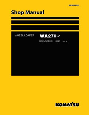 Komatsu WHEEL LOADER WA270-7 Workshop Repair Service Manual PDF Download
