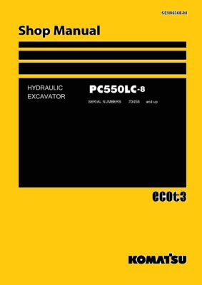 Komatsu PC550LC-8 Hydraulic Excavator Workshop Repair Service Manual PDF Download
