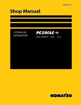 Komatsu PC290LC-11 Hydraulic Excavator Workshop Repair Service Manual PDF Download