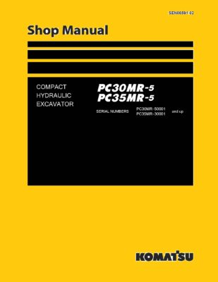 Komatsu PC30MR-5/ PC35MR-5 Hydraulic Excavator Workshop Repair Service Manual PDF Download
