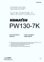 Komatsu PW130-7K Hydraulic Wheel Excavator Workshop Repair Service Manual PDF Download