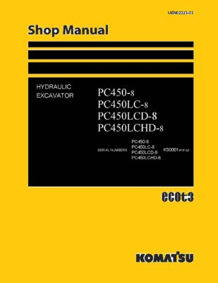 Komatsu PC450-8/ PC450LC-8/ PC450LCD-8/ PC450LCHD-8 Hydraulic Excavator Workshop Repair Service Manual PDF Download