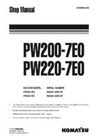 Komatsu PW200-7E0/ PW220-7E0 Hydraulic Wheel Excavator Workshop Repair Service Manual PDF Download