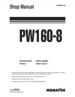 Komatsu PW160-8 Hydraulic Wheel Excavator Workshop Repair Service Manual PDF Download
