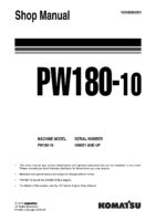 Komatsu PW180-10 Hydraulic Wheel Excavator Workshop Repair Service Manual PDF Download