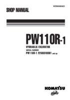 Komatsu PW110R-1 Hydraulic Wheel Excavator Workshop Repair Service Manual PDF Download
