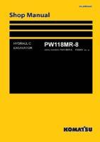 Komatsu PW118MR-8 Hydraulic Wheel Excavator Workshop Repair Service Manual PDF Download