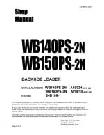 BACKHOE LOADER WB140PS-2N/ WB150PS-2N SERIAL NUMBERS A40034/ A70010 and up Workshop Repair Service Manual PDF download