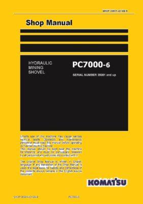 Komatsu PC7000-6 Hydraulic Excavator Workshop Repair Service Manual PDF Download