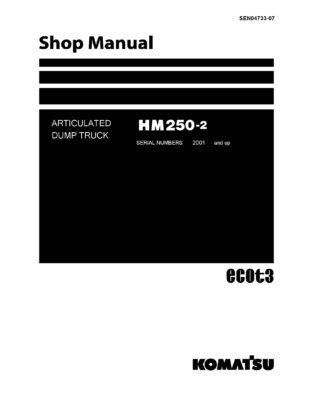 Komatsu HM250-2 ARTICULATED DUMP TRUCK Workshop Repair Service Manual PDF Download