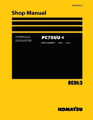 Komatsu PC78UU-8 Hydraulic Excavator Workshop Repair Service Manual PDF Download