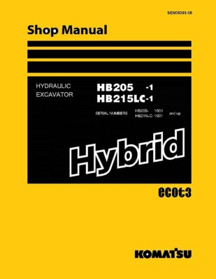 Komatsu HB205-1/ HB215LC-1 HYBRID HYDRAULIC EXCAVATOR Workshop Repair Service Manual PDF Download