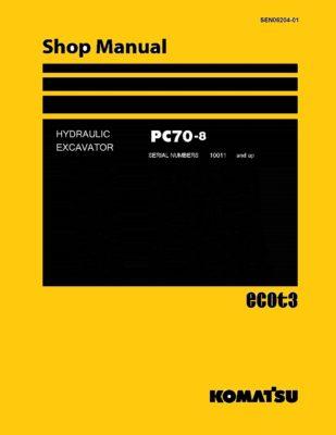Komatsu PC70-8 Hydraulic Excavator Workshop Repair Service Manual PDF Download