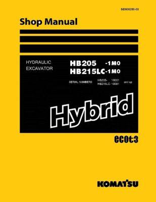 Komatsu HB205 -1M0/ HB215LC-1M0 HYBRID HYDRAULIC EXCAVATOR Workshop Repair Service Manual PDF Download
