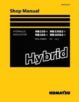 Komatsu HB335-1/ HB335LC-1/ HB365-1/ HB365LC-1 HYBRID HYDRAULIC EXCAVATOR Workshop Repair Service Manual PDF Download