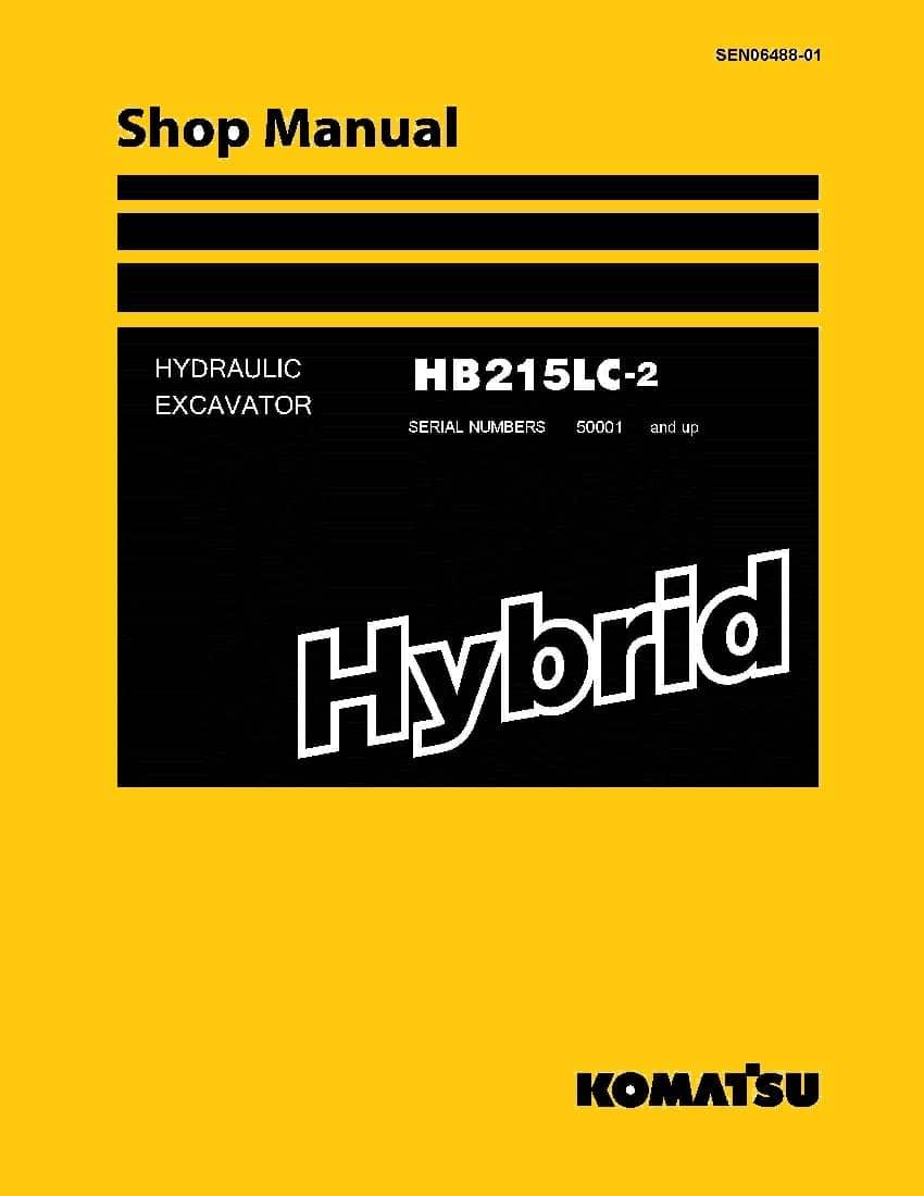 Komatsu HB215LC-2 HYBRID HYDRAULIC EXCAVATOR Workshop ...