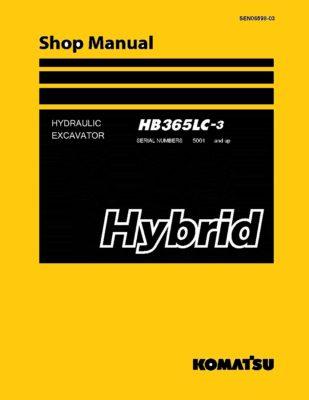 Komatsu HB365LC-3 HYBRID HYDRAULIC EXCAVATOR Workshop Repair Service Manual PDF Download