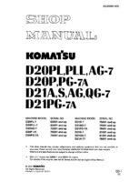 BULLDOZER D20-7/ D21-7 PL,PLL,AG,PG,S,QG SERIAL NUMBER 62001 and up Workshop Repair Service Manual PDF Download