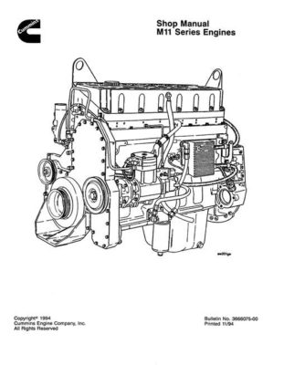 Komatsu DIESEL ENGINE M11 SERIES Workshop Repair Service Manual PDF Download