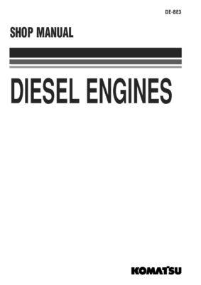 Komatsu DIESEL ENGINE SPECIFICATIONs All Komatsu Engine Workshop Repair Service Manual PDF Download