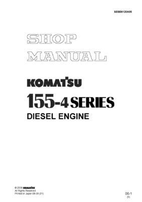 Komatsu DIESEL ENGINE 155-4 SERIES Workshop Repair Service Manual PDF Download