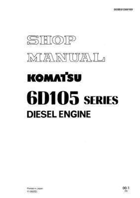 Komatsu DIESEL ENGINE 6D105 SERIES Workshop Repair Service Manual PDF Download