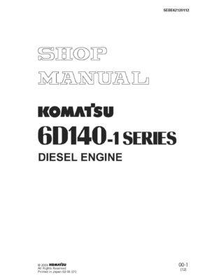 Komatsu DIESEL ENGINE 6D140-1 SERIES Workshop Repair Service Manual PDF Download