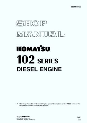 Komatsu DIESEL ENGINE 102 SERIES Workshop Repair Service Manual PDF Download