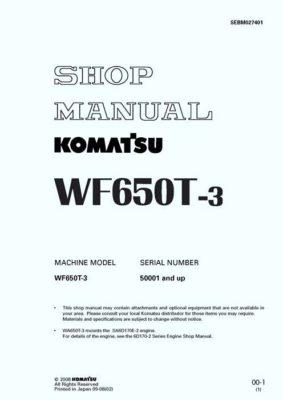 TRASH COMPACTOR WF650T-3 SERIAL NUMBERS 50001 and up PDF Download Workshop Repair Service Manual PDF Download